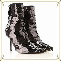 Sergio Rossi Leather Pin Heels Party Style High Heel Boots