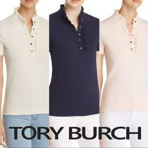 Tory Burch Plain Polo Shirts