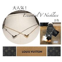 Louis Vuitton V Unisex Necklaces & Pendants