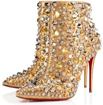 Christian Louboutin Studded Pin Heels With Jewels Elegant Style
