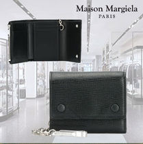 Maison Martin Margiela Chain Plain Leather Folding Wallets