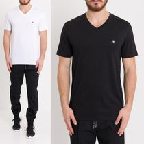 DIOR HOMME Street Style V-Neck Plain Cotton Short Sleeves