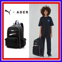 ADERERROR Unisex Street Style Collaboration A4 Plain Backpacks