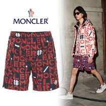MONCLER Printed Pants Monogram Blended Fabrics Street Style Shorts