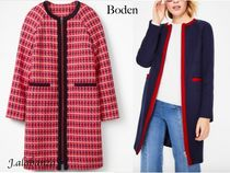Boden Gingham Tweed Plain Medium Office Style Coats
