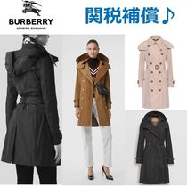 Burberry THE KENSINGTON Plain Party Style Trench Coats