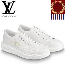 Louis Vuitton Unisex Street Style Plain Leather Sneakers