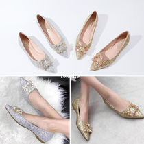 Plain Elegant Style Slip-On Shoes