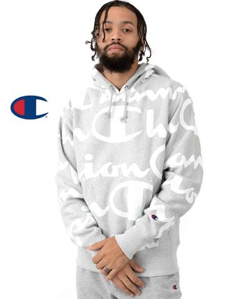 CHAMPION Hoodies Sweat Street Style Long Sleeves Hoodies