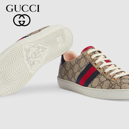 813d6820cf4 GUCCI 2018 SS Casual Style Leather Low-Top Sneakers by buffalo-soc ...