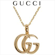 GUCCI Unisex Street Style 18K Gold Necklaces & Chokers