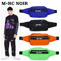 MRC NOIR Unisex Nylon Street Style 2WAY Plain Hip Packs