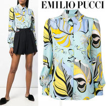 Emilio Pucci Casual Style Silk Long Sleeves Medium Shirts & Blouses