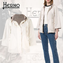 HERNO Casual Style Blended Fabrics Street Style Bi-color Plain