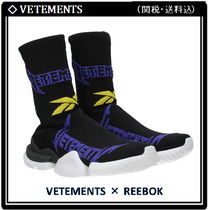 VETEMENTS Round Toe Rubber Sole Casual Style Low-Top Sneakers