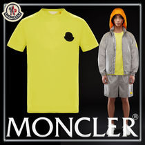 MONCLER Crew Neck Unisex Street Style Plain Cotton Short Sleeves