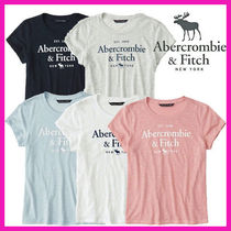 Abercrombie & Fitch Crew Neck Short Cotton Short Sleeves Cropped