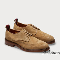 Ron Herman Wing Tip Moccasin Suede Plain Handmade Loafers & Slip-ons