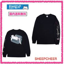 RIPNDIP Long Sleeves Cotton Long Sleeve T-Shirts