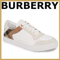 Burberry Sheepskin Street Style Sneakers