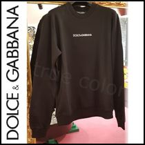 Dolce & Gabbana Crew Neck Pullovers Unisex Sweat Street Style Long Sleeves
