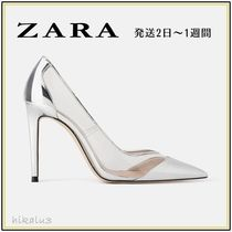 ZARA Pin Heels Elegant Style Pointed Toe Pumps & Mules