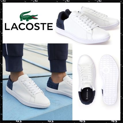 1d40fd7fa ... LACOSTE Low-Top Casual Style Unisex Street Style Bi-color Leather ...