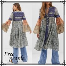 Free People Long Sleeves Long Gowns Tunics