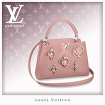 Louis Vuitton CAPUCINES Studded 2WAY Leather Elegant Style Handbags