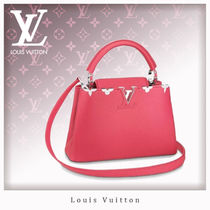 Louis Vuitton CAPUCINES Monogram Casual Style 2WAY Leather Handbags