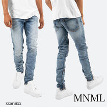 MNML Blended Fabrics Street Style Plain Cotton
