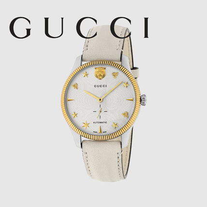 84e2c888eb9 ... GUCCI Analog Studded Street Style Round Mechanical Watch Stainless ...