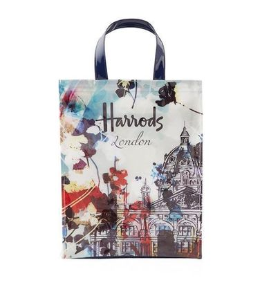 Flower Patterns Casual Style Unisex A4 PVC Clothing Totes