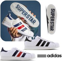adidas SUPERSTAR Street Style Bi-color Plain Leather Sneakers