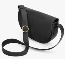 CUYANA Plain Leather Elegant Style Crossbody Shoulder Bags