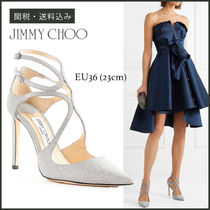 Jimmy Choo Plain Leather Pin Heels Party Style