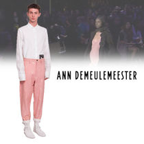 Ann Demeulemeester Flower Patterns Cotton Cropped Pants