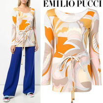 Emilio Pucci Casual Style Long Sleeves Long Shirts & Blouses