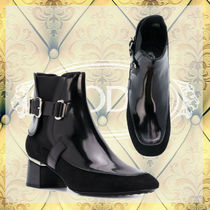 TOD'S Round Toe Rubber Sole Suede Ankle & Booties Boots
