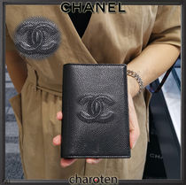 CHANEL TIMELESS CLASSICS Unisex Calfskin Plain Wallets & Small Goods