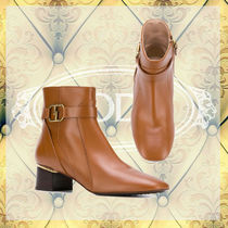 TOD'S Rubber Sole Leather Ankle & Booties Boots