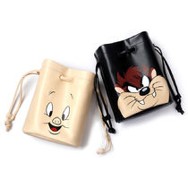 STEREO VINYLS COLLECTION Casual Style Unisex Street Style Collaboration Plain Purses
