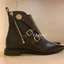 Louis Vuitton MONOGRAM Monogram Rubber Sole Blended Fabrics Bi-color Leather