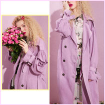 ELF SACK Stand Collar Coats Casual Style Unisex Faux Fur Street Style