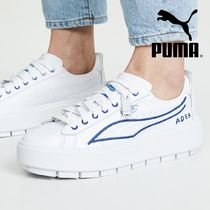 PUMA Casual Style Street Style Leather Low-Top Sneakers