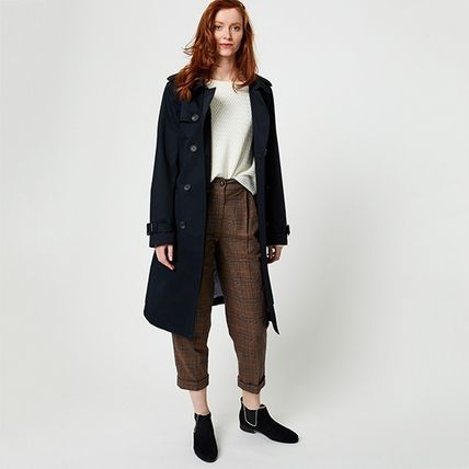 Plain Medium With Jewels Trench Coats