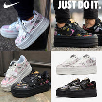 Nike Flower Patterns Platform Round Toe Casual Style Unisex