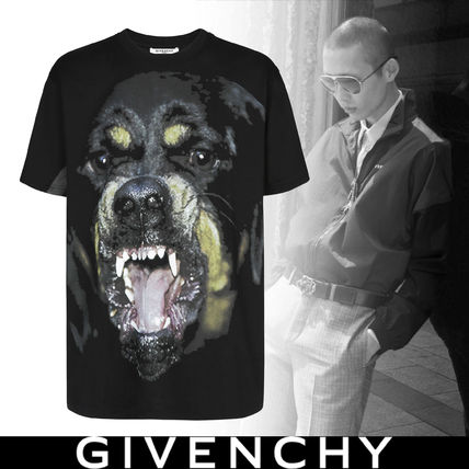 GIVENCHY More T-Shirts Street Style Plain Short Sleeves Oversized T-Shirts