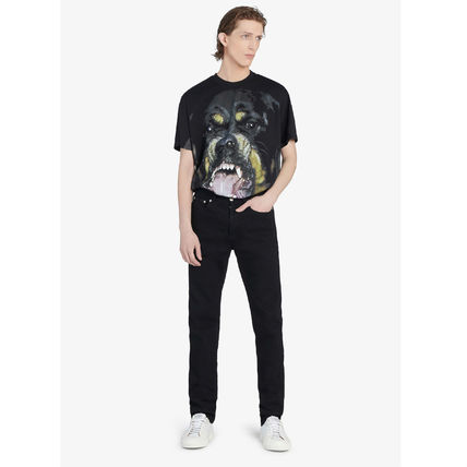 GIVENCHY More T-Shirts Street Style Plain Short Sleeves Oversized T-Shirts 3