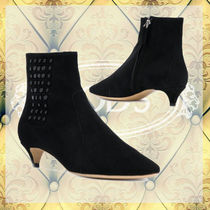 TOD'S Studded Leather Ankle & Booties Boots